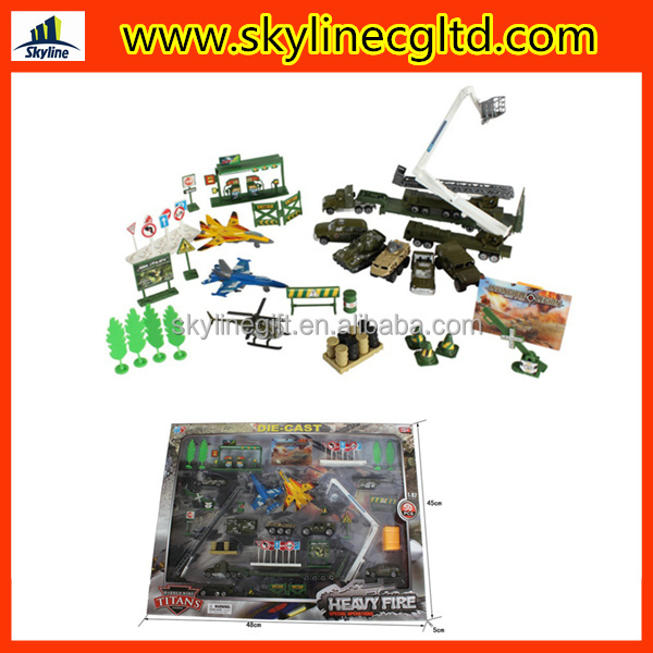 diecast model car toys for kid military playset