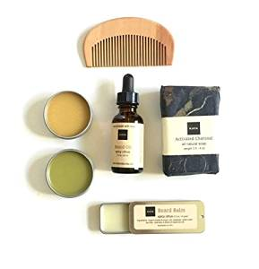 Men's Travel Gift Set | Groomsmen Gift | Gift For Him | Boyfriend Gift | Gift for Dad | Spicy Beard Oil | Beard Balm | 100% Natural Products