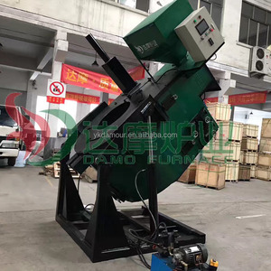 Automatic tilting Melting aluminium scrap smelting aging furnace industrial for die casting