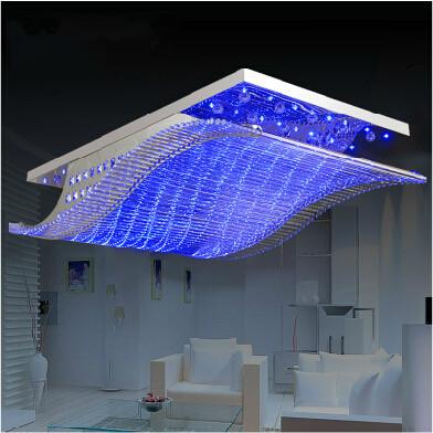 modern crystal chandelier led color change with remote control organ style rgb lustre ceiling. Black Bedroom Furniture Sets. Home Design Ideas