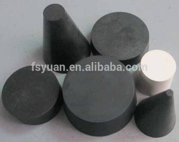 Solid tapered rubber stopper bung end plug