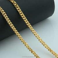4/5/6mm Width Men Women Yellow Gold Plated Link Curb Simple Necklace Chains Customize Jewelry