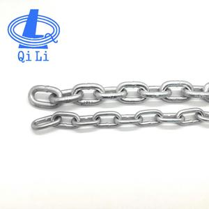 ordinary mild zinc plated steel short link chain in gunny bag