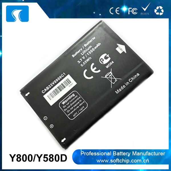 li-ion battery 3.7v 4.2v 1500mah for Alcatel Y800 Y580D battery