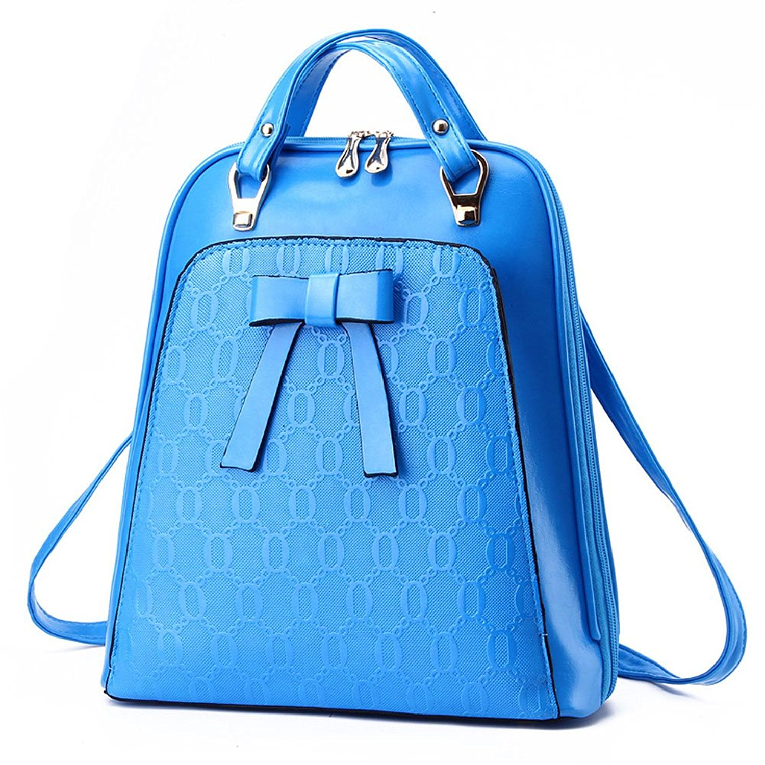 538c3ff069 Get Quotations · Monifa College Leather Fresh Personality Travel Womens  Backpacks