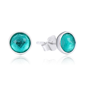 POLIVA Popular Daily Wear 925 Sterling Silver Birthstone Royal-Green Crystal May Droplets Stud Earrings for Women