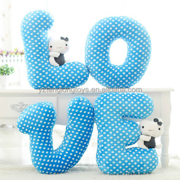 Hot Sale Stuffed Letter Toy Letter Shaped Pillow   Buy Letter