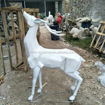 Modern Craft Resin Life Size Deer Garden Statue Sculpture