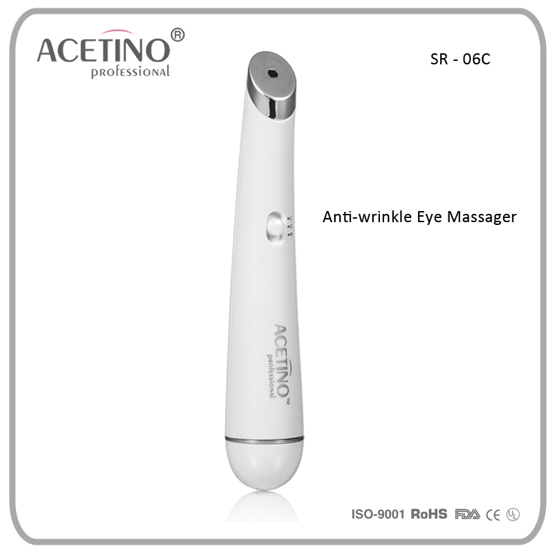 2015 Acetino Beauty products Electric Photon Vibration heating Blue LED eye massager