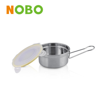 Korean stainless steel bento lunch box with long handle