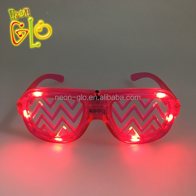 Apparel Accessories The Cheapest Price Wholesale El Wire Flashing Light Up Shutter Glasses Shades Eyewear Party Concert Favor Jade White Men's Glasses