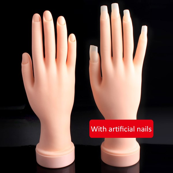 Nail Salon Equipment Training Hand Nail Fake Practice Hand With ...