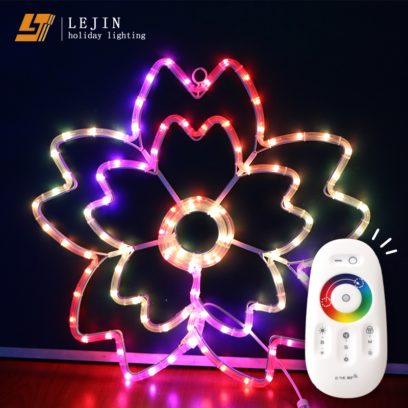 remote control color changing led Cherry blossoms motif light event decoration holiday lighting