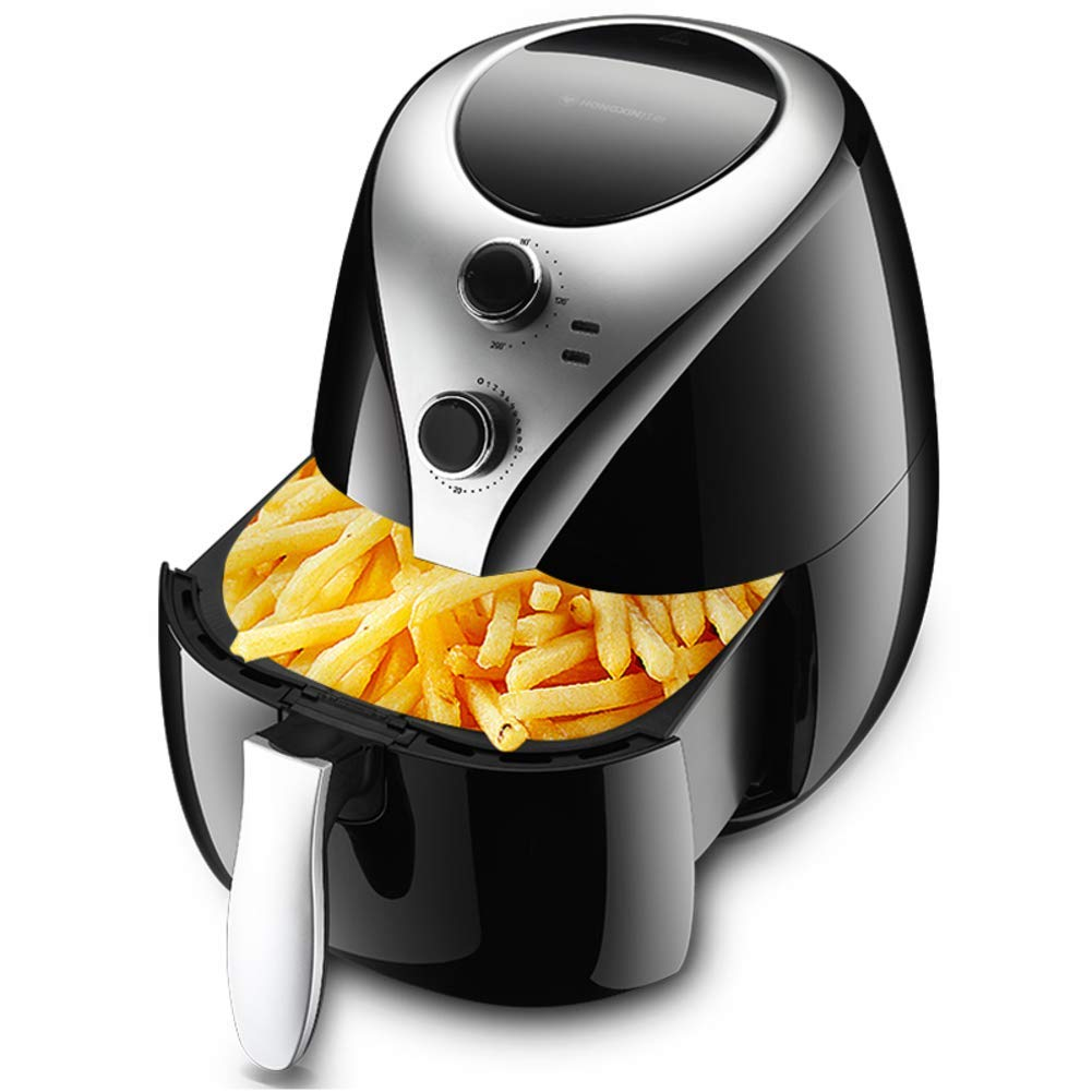 Large capacity Deep fryer,Air fryer With rapid air circulation system Intelligent Fries machine Fully automatic No oil fryer Healthy fryer With timer and temperature control-black