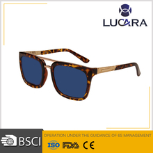 New Square Frame Sun Glasses Imitation Wood Grain Sunglasses for Women