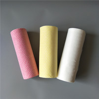 Hydrophilic Nonwoven Wiping Cloth Disposable Dry Floor Wipe nonwoven fabric towel roll