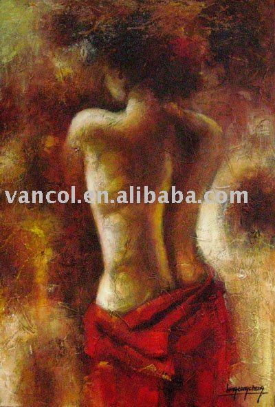 High quality cheap nude woman body painting with oil on canvas