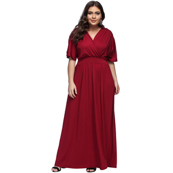 Latest Style Plus Size Red V Neck Bare Shoulder Prom Dress Design For Fat  Women - Buy Prom Dress For Fat Women,Plus Size Dress Design,Fat Women ...