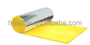Glass wool insulation felt with alu foil