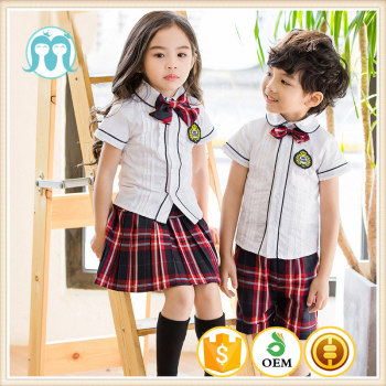 bed24b26ff Escuela Primaria verano diseño uniforme para India alta diseños de uniformes  escolares niñas mini faldas niños