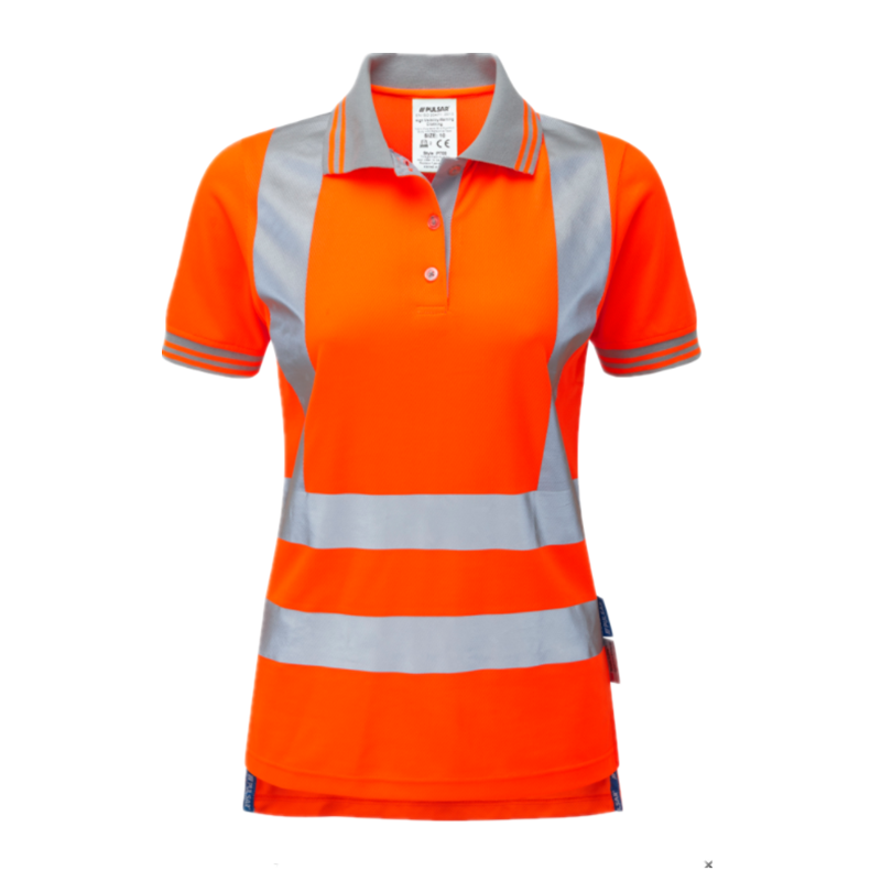 f7af4dc7 Ladies Work Safety t-shirt High Visibility Hi Vis Polo Shirts Orange With  Reflective Stripes for Women