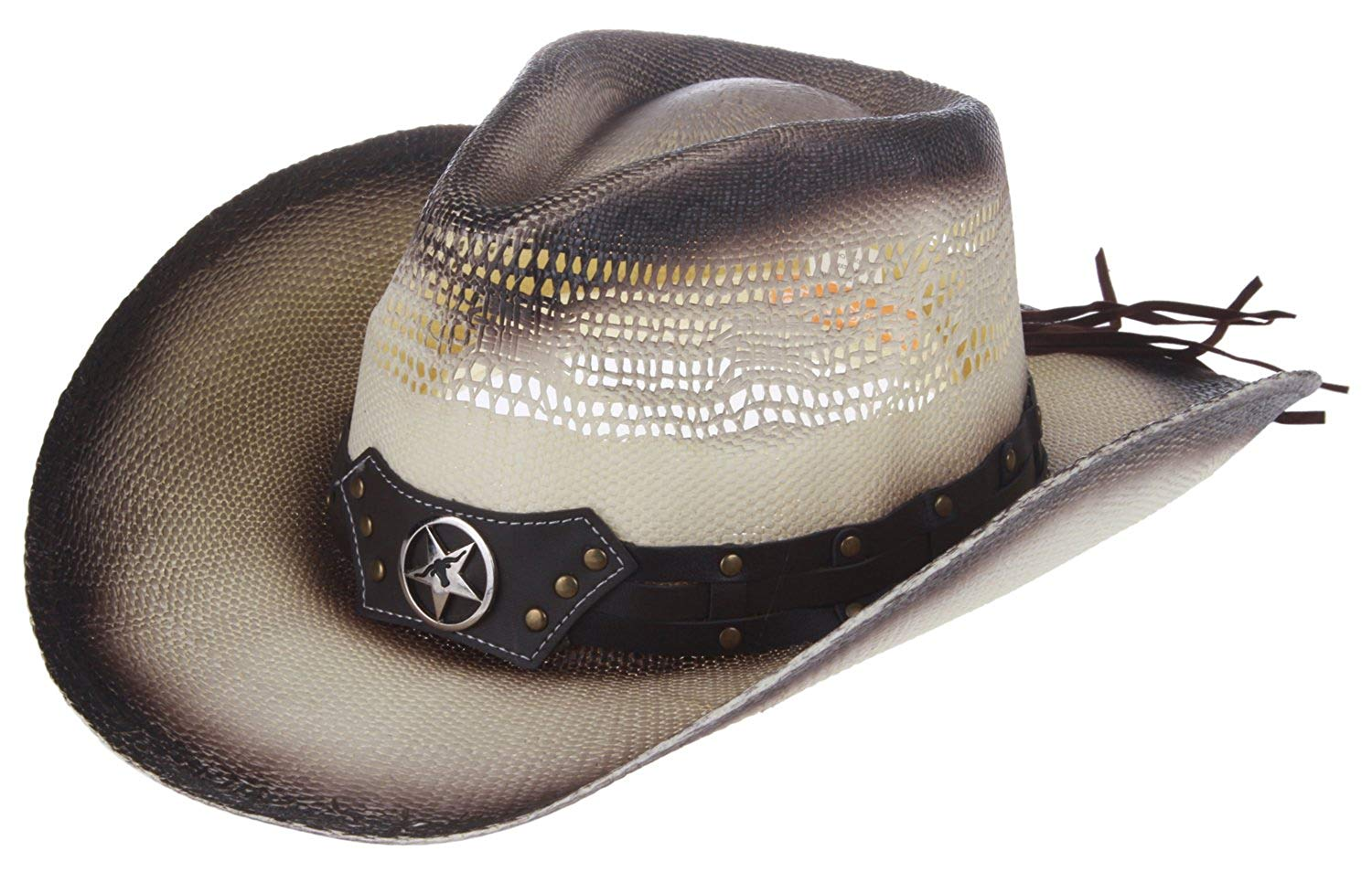38ace435e08021 Buy Panama Jack Womens Maize Outback Cowboy Beach Hat with Shells in ...