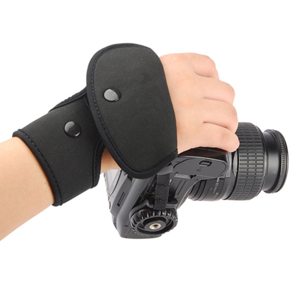 Eggsnow Hand Grip Camera Hand Wrist Hand Strap With Dual Grip Belt Band for Canon Nikon Sony Olympus Slr/Dslr-Black
