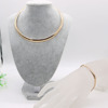 artificial engagement choker necklace set bracelet set