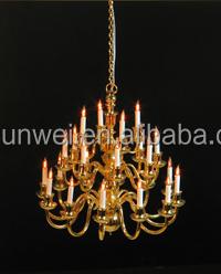 1:12 Luxe Kroonluchter Poppenhuis Lichten Miniatuur Verlichting Met ...
