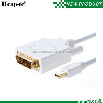 Mini Displayport To Dvi M//m Cable For Mac Book 6ft -white - Buy Female  Mini Displayport To Dvi Adapter,Mini Displayport To Dvi Cable,Mini  Displayport