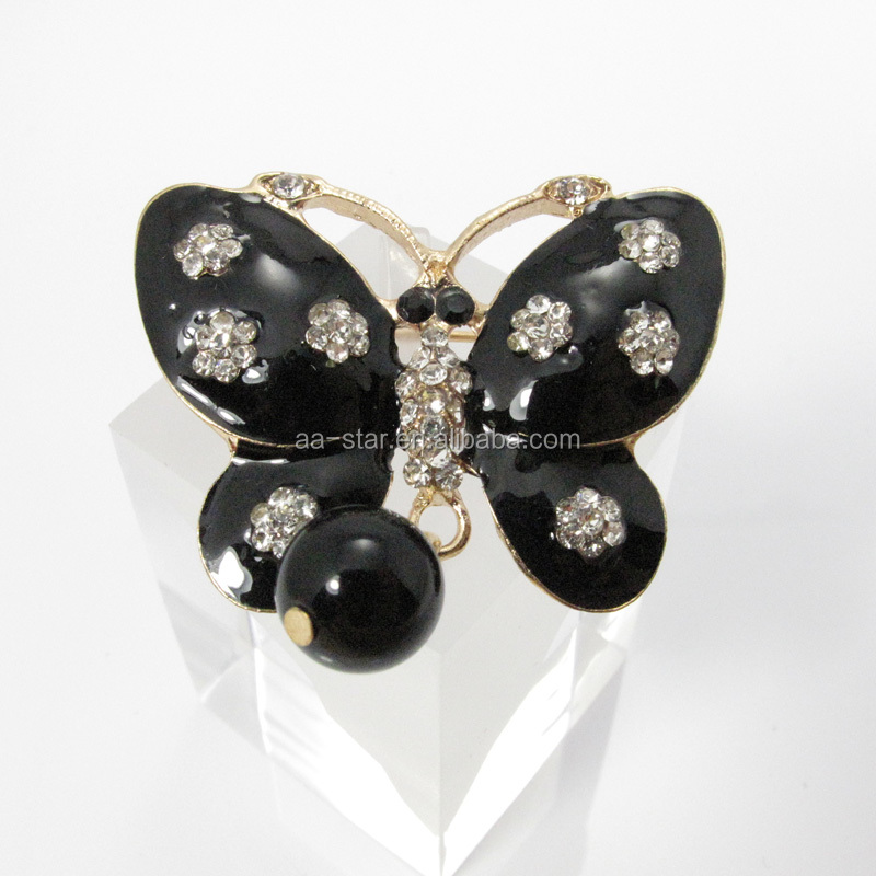 rhinestone brooch wholesale rhinestone initial brooches black butterfly brooch