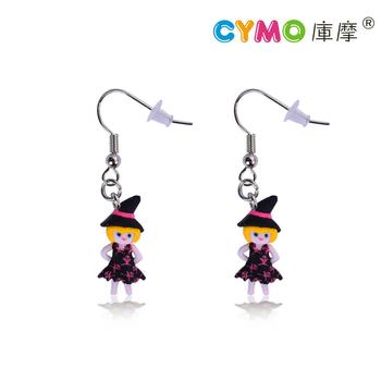 Christmas Hat Earring Decoration Fashion New Arrival Cute Polymer Clay Jewelry Kids Earrings