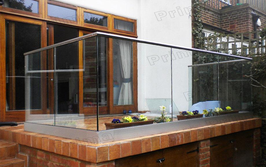 Channel Glass Railing/glass Wall Stainless/frameless Glass Railing ...
