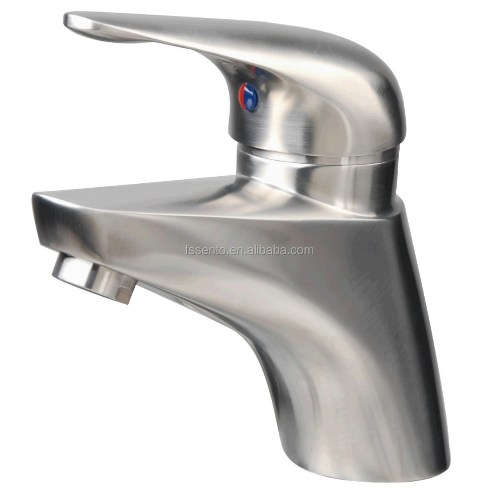 Stainless steel washroom sanitary ware basin mixer