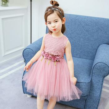 2017 Lack Flower Girls Garments Sweet Kids Princess Vest Wedding ...