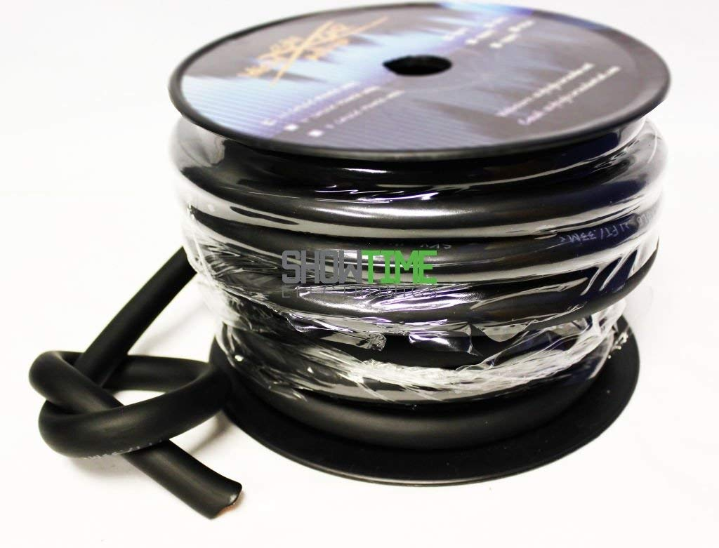Sky High Car Audio 50' Foot BLACK 1/0 AWG Gauge OFC Power/Ground Wire/Cable SHCA