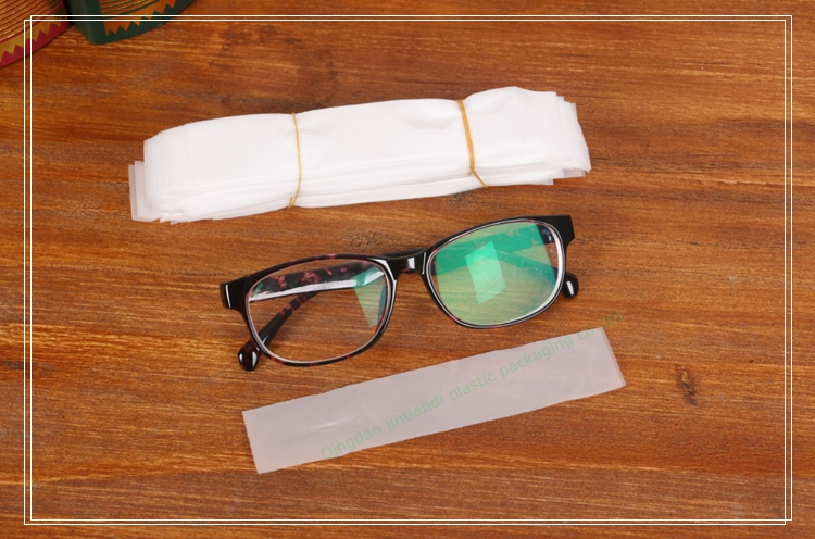 custom made best price half clear CPE disposable protective glasses plastic sleeve / glasses plastic cover
