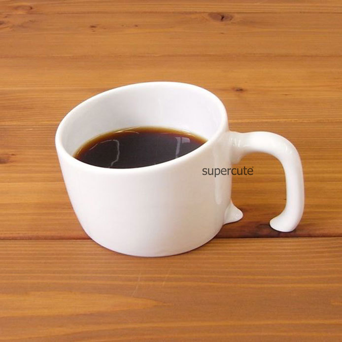 Sinking Shaped Ses Cheap Plain White Coffee Mug Buy
