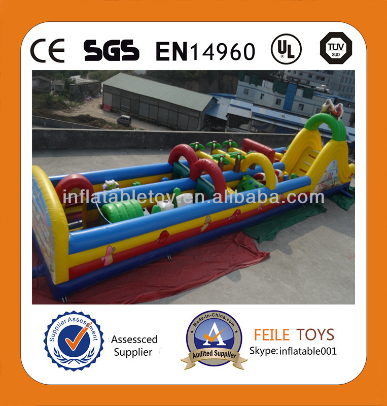 2014 hot selling/high quality <strong>inflatable</strong> interactive ,<strong>inflatable</strong> obstacle course,plastic playground