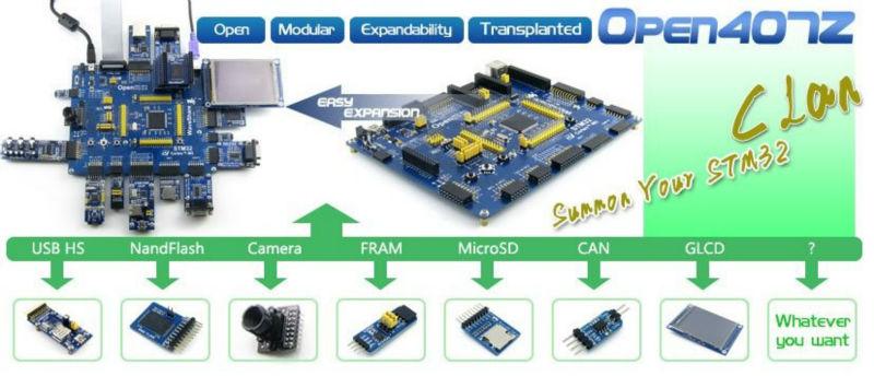 Stm32f407zgt6 Stm32f407 Stm32 Arm Cortex-m4 Development Board + Pl2303 Usb  Uart Module = Open407z Standard - Buy Open407z Standard,Open407z Standard