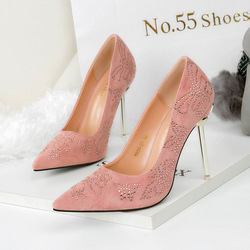 SS0058 New trendy butterfly print bridal wedding pump shoes 2018 metal high heel banquet shoes