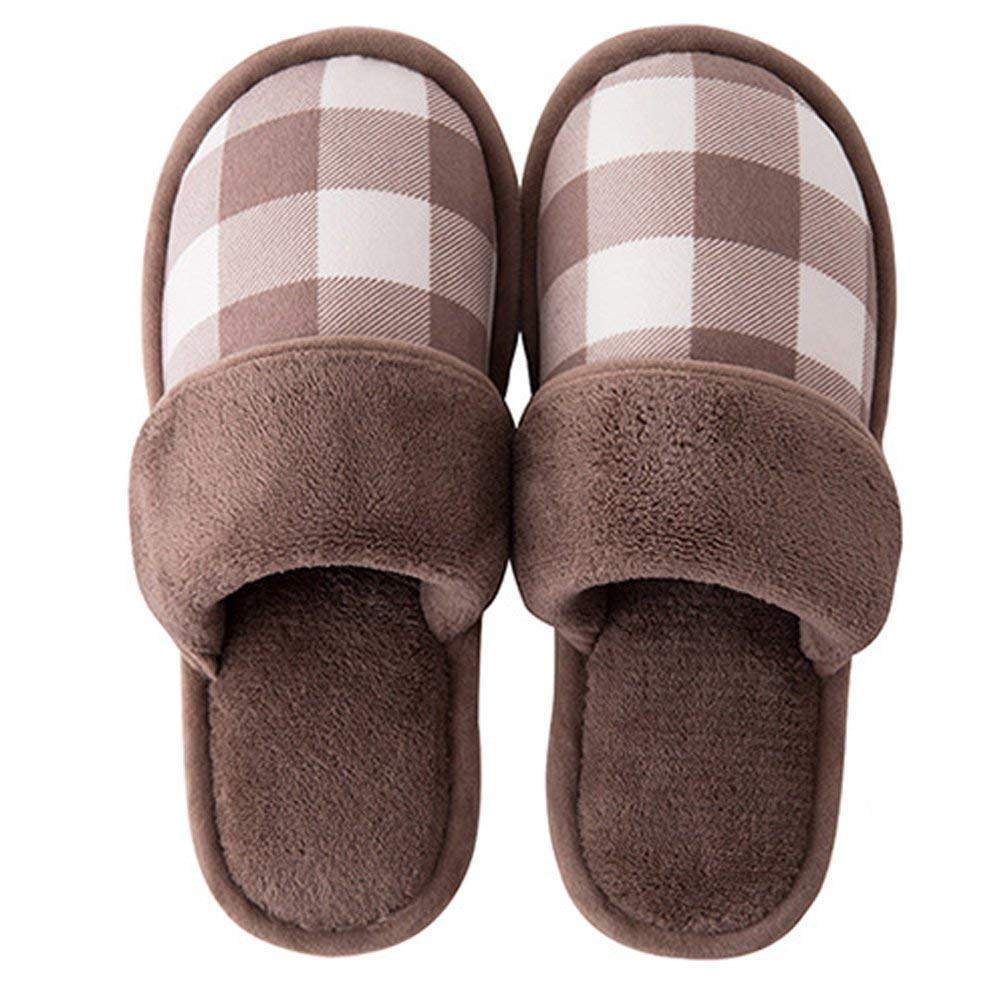 Mens and Womens House Slippers, Indoor Slippers, Winter Warm Slippers, Comfort Plush Cotton Slippers