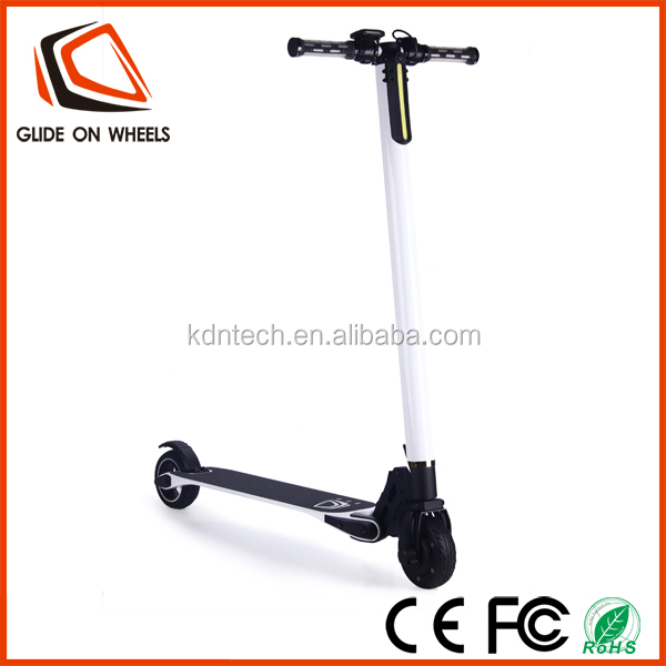 Cheap The Lightest Carbon Fiber Folding Two Wheel Electronic Foot Scooter