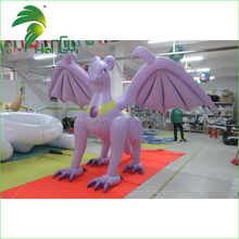 Most Popular Cartoon Character Standing Lovely Design Inflatable Purple Dragon Princess