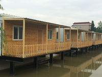 The low cost Beach wooden house manufacturer