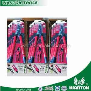 New Type big one and small one steel fix handle lopping shear&pruning shear /scissor /ratchet garden set two colour