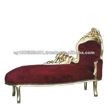 Chaise lounge antique furniture reproductions baroque and for Chaise lounge antique furniture