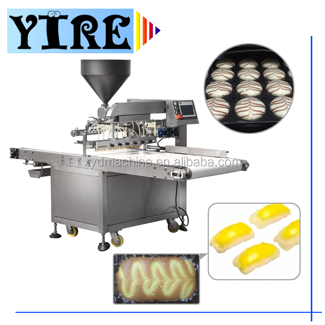 Bread automatic making/topping/printing puff/jam/cream machine/pastry equipment