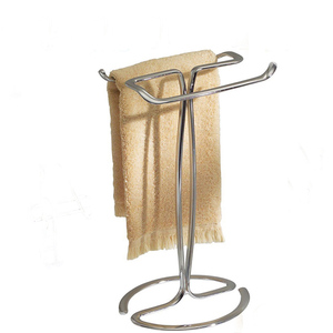 Bathroom accessories metal steel wire floor standing towel rack