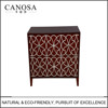 CANOSA 2016 New product Hand-Made Chinese fresh water shell inlaid wood Storage Cabinet living room furniture